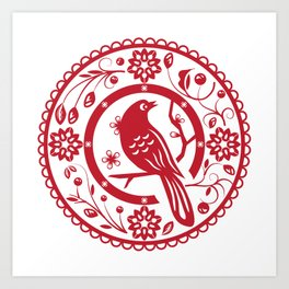 Traditional chinese paper cut Art Print