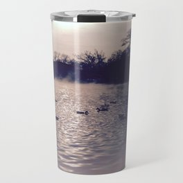 Winter lake Travel Mug