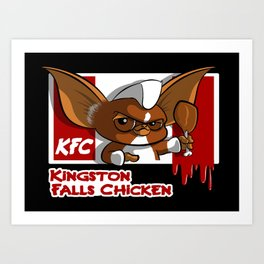 Kingston Falls Chicken Art Print