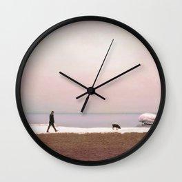 Winter at Lake Ontario Wall Clock