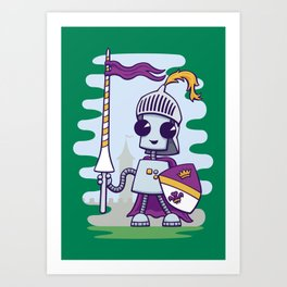 Ned the Knight Art Print