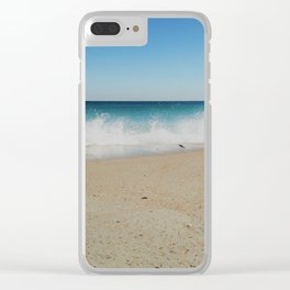 Sandpiper Waves Clear iPhone Case