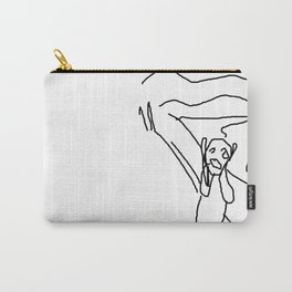 the scream by munch: low effort recreation in ms paint Carry-All Pouch