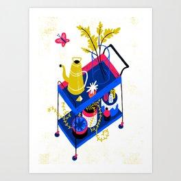 Rolling Table Art Print