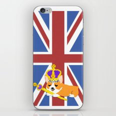 Crown Corgi iPhone & iPod Skin