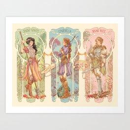 Warrior Princesses Art Print