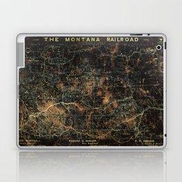 Vintage Montana Railroad Blueprint Laptop & iPad Skin