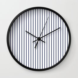 Posey Violet Thin Pinstripe on White Wall Clock