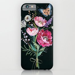 Butterfly Floral Bouquet iPhone Case