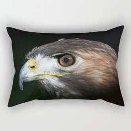 Sparkle In The Eye - Red-tailed Hawk Rectangular Pillow