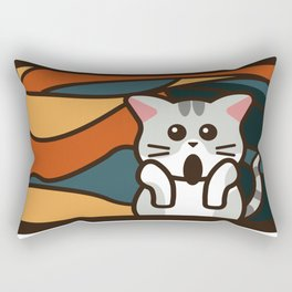 The Meow / The Scream Rectangular Pillow