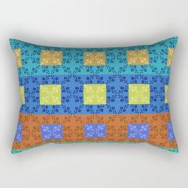 Simple retro Fresh Lines and Squares Rectangular Pillow
