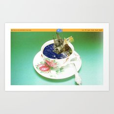 Climate Change - Wait and See · (Abwarten und Tee trinken...) Art Print