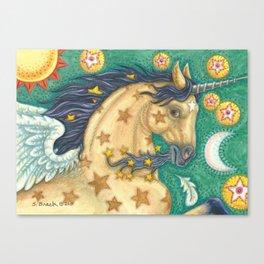 STAR TREKKER - Brack Buckskin Unicorn Pegasus Canvas Print