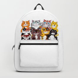 Happy Smiling Cats Backpack