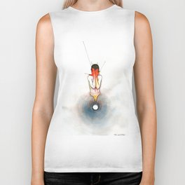 The Exclamation, male nude emotional, NYC artist Biker Tank