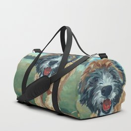 Wheaton Terrier Dog Portrait Duffle Bag