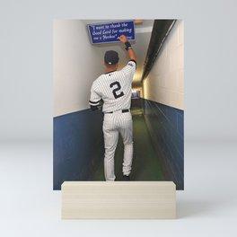 𝓜𝓛𝓑 - Society6 - New York - Hall Of Fame - Baseball - Derek Sanderson 𝕵𝖊𝖙𝖊𝖗 - 2 - A43 Mini Art Print