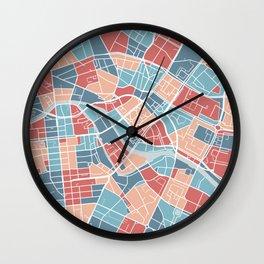 Berlin map, Germany Wall Clock
