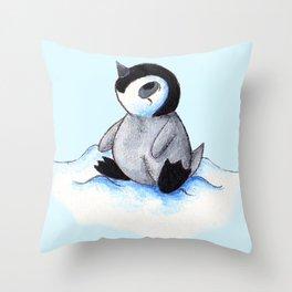 Little Winter Fluffball Throw Pillow