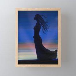 Wind blown Framed Mini Art Print