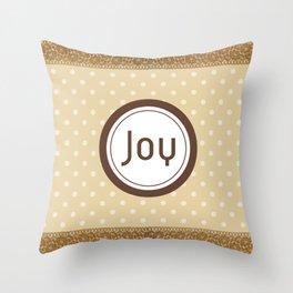Tan Polka Dot and Lace JOY Throw Pillow