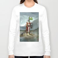 kermit Long Sleeve T-shirts featuring Kermit the Knight by Alberto Camara