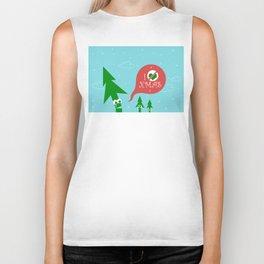 Greestmas. Save Xmas Trees Biker Tank