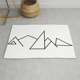 Seven Summit Mountains (Geographic Line Art) Rug