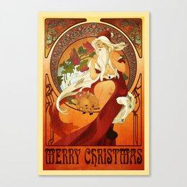 Mucha Santa Canvas Print