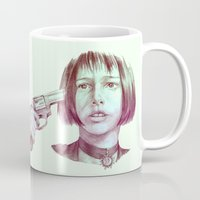 leon Mugs featuring leon - mathilda  by Doruktan Turan