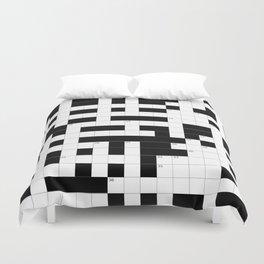 Crossword Puzzle Duvet Cover