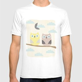 owls on a branch T-shirt