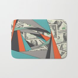 Colorful Currency Collage Bath Mat
