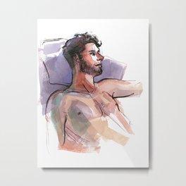 MARK, Semi-Nude Male by Frank-Joseph Metal Print