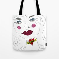 """mom Tote Bags featuring """"MoM"""" by Holly Lynn Clark"""