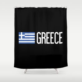 Greece: Greek Flag & Greece Shower Curtain