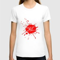 shaun of the dead T-shirts featuring Shaun oF The Dead  |  You've Got Red On You... by Silvio Ledbetter