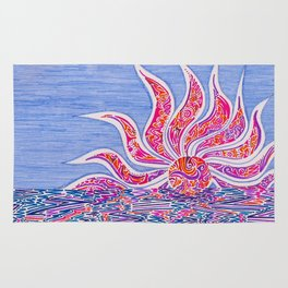 Hectic Sunset Rug