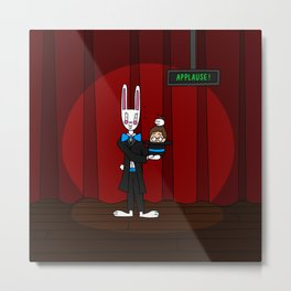Tricky Bunny! Metal Print