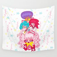 jem Wall Tapestries featuring fanart Jem and the Holograms by Lady Love