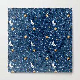 night stars Prints patterns Metal Print