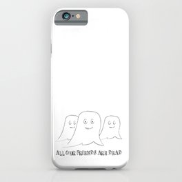 Funny Halloween Decor with Ghosts iPhone Case