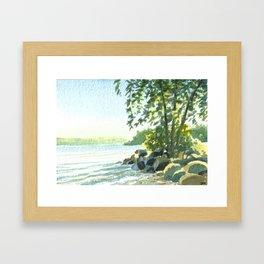 Lake Simcoe, Aug 2014 Framed Art Print
