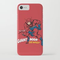 iron giant iPhone & iPod Cases featuring Giant Man & The Wasp by Draganmac
