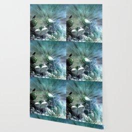 Lost Hearts in Blue, Digital Art Wallpaper