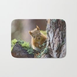 Baby Red Squirrel  Bath Mat
