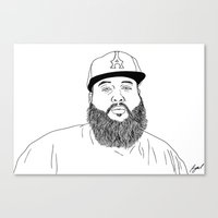 action bronson Canvas Prints featuring Action Bronson. by Saul Art