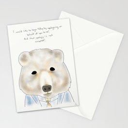 spicer bear Stationery Cards