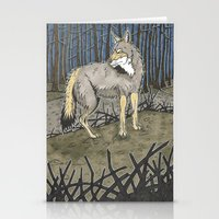 coyote Stationery Cards featuring Coyote by Lucan Joshua Jackson